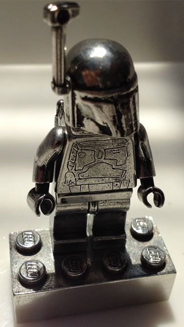 Star Wars Pewter LEGO Boba Fett Minifigures