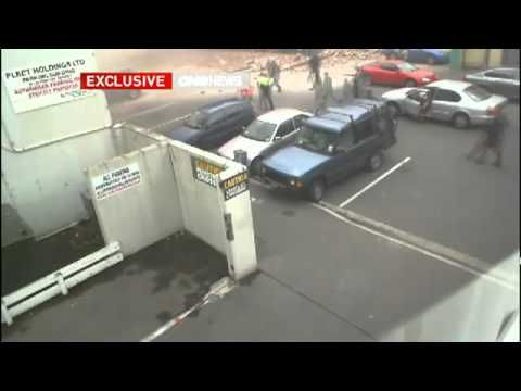 Footage of the Christchurch earthquake.
