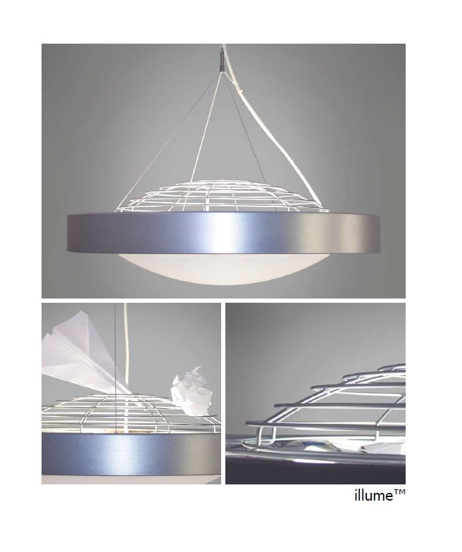 The illume by impact architectural lighting a fluorescent and led pendant light fixture