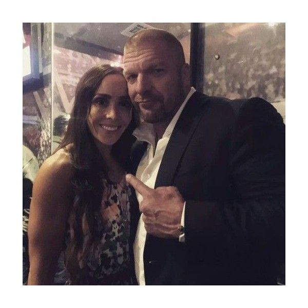 Sara del Rey and Triple H! NXT BROOKLYN ❤ liked on Polyvore featuring wwe