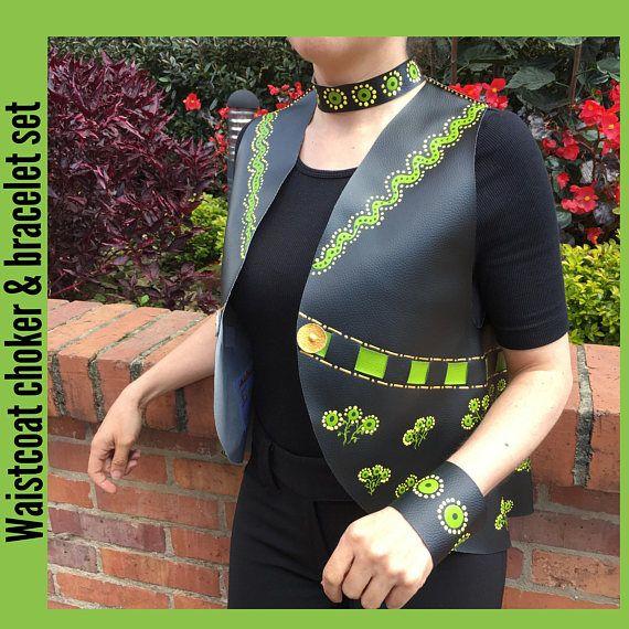 Chaleco, chaqueta,ropa verde,ropa boho,ropa divertida,sexy, boho chic,hecho a mano,trendy,ropa de moda,brazalete,gargantilla, inspirado Dior