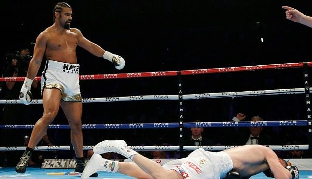 DBliss Media   Real News And Entertainment Online Magazine. : David Haye defeated Arnold Gjergjaj with a devastating knockout inside 2 rounds
