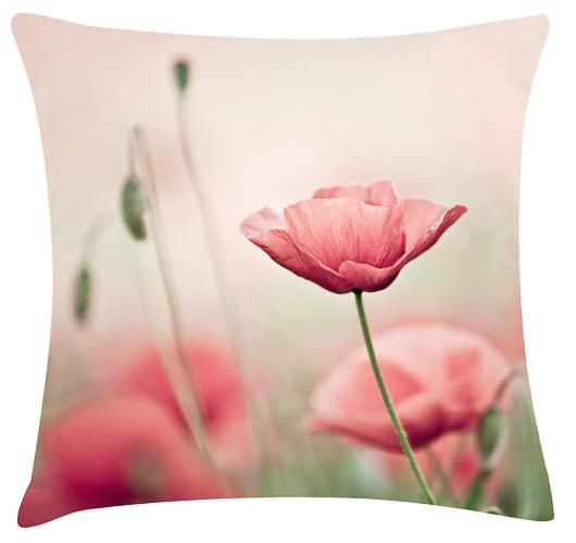 Pink Poppy Cushion. 100% Organic Cotton and comes with a plush filler. Only $45 with Free Shipping! http://www.stoolsandchairs.com.au/pink-poppy-cushion/