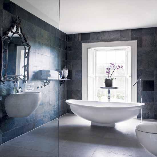 Tremendous 17 Best Ideas About Grey Bathroom Tiles On Pinterest Gray Inspirational Interior Design Netriciaus