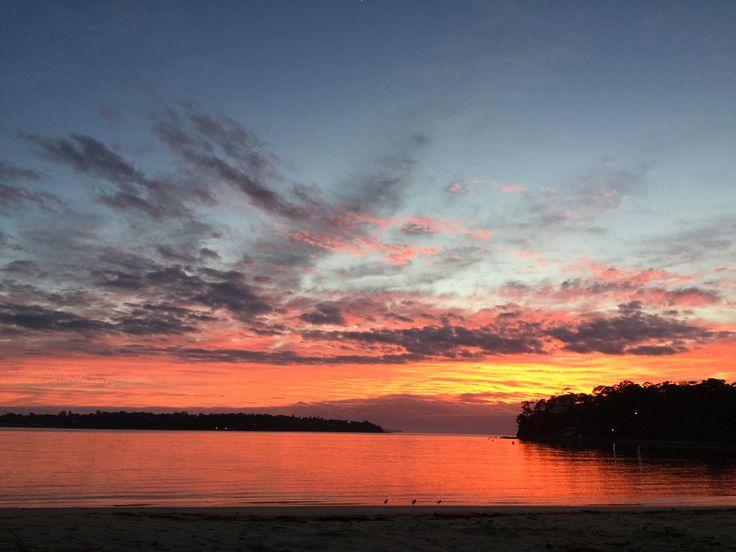 Beautiful sunrise at bundeena