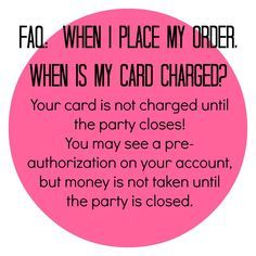 Credit card charged? No problem! Just remember the $ 4 urborder in taken off ur catd the day the party closes...not the day u place ur order.(unless u order on the day it closes, lol!