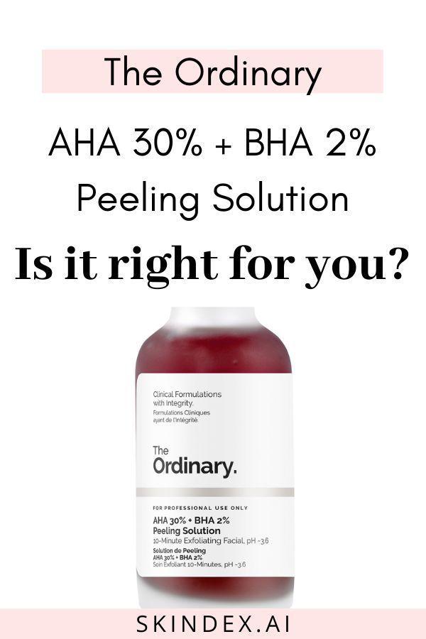 The Ordinary Aha 30 Bha 2 Peeling Solution Ingredient Analysis Skindex The Ordinary Aha 30 Cruelty Free Skin Care The Ordinary Peeling Solution Review