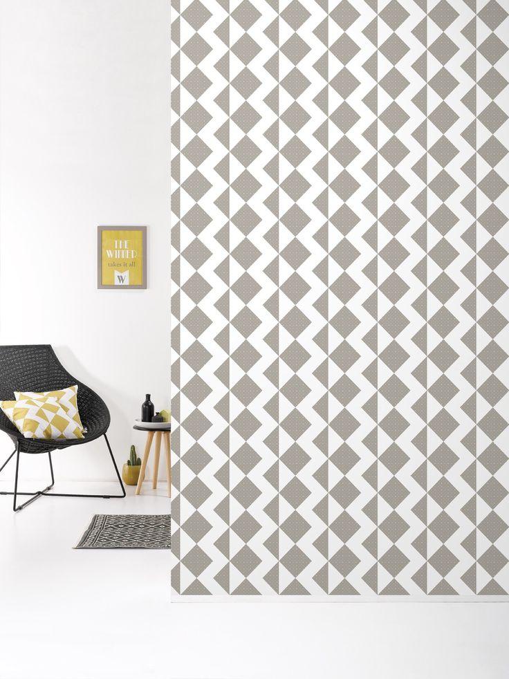Behang Zigzag Brown - Behangpapier - Muur