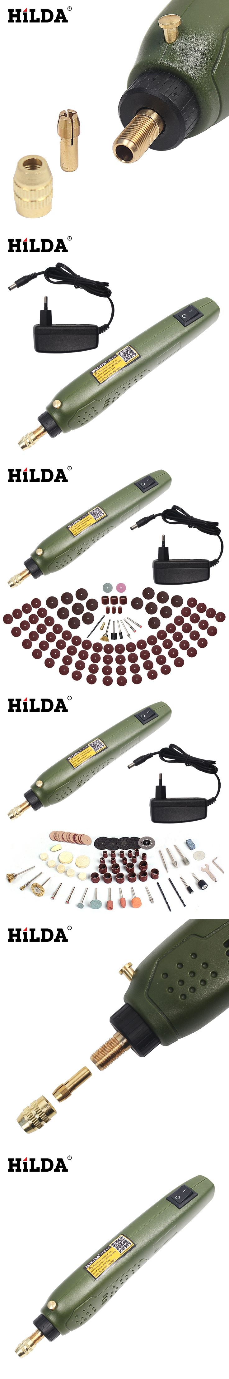 HILDA FOR Dremel Mini Electric Drill + Grinding Accessories Set Multifunction Engraving Machine Electric Tool kits Power Tools