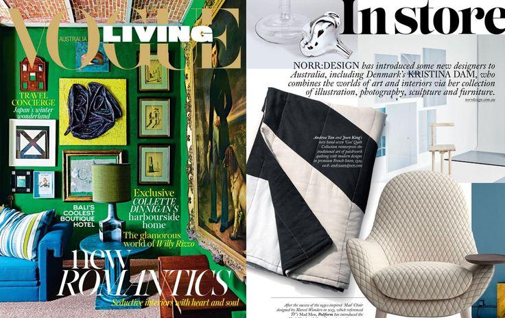 Andrea & Joen French Bed Linen in Living Magazine