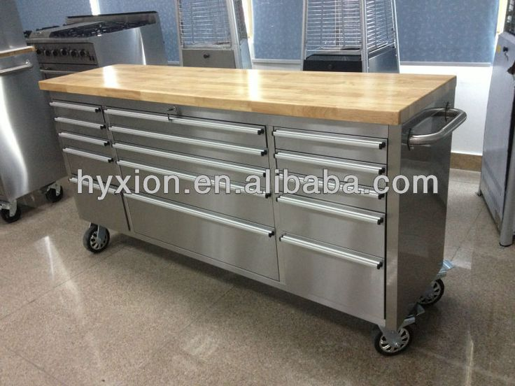 72 stainless steel tool box with wooden top, View stainless steel ...