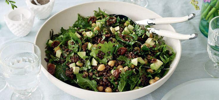 Summer Kale, Lentil and Chickpea Salad