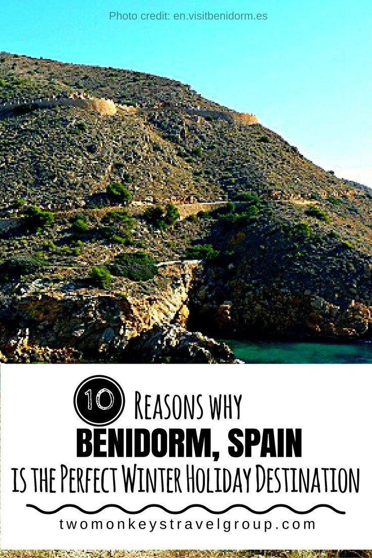 10 Reasons Why Benidorm, Spain is the Perfect Winter Holiday Destination Benidorm, Spain, was originally a small fishing village way back in the 60's, and is now considered as one of the most popular winter holiday destination in Spain and in Europe as well. The city is known to have a hot semi-arid climate, not-so-cold winters but very hot summers. Benidorm enjoys over 3,000 hours of sunshine in a year and has mild temperatures, of 18.9 °C average temperature in a year.