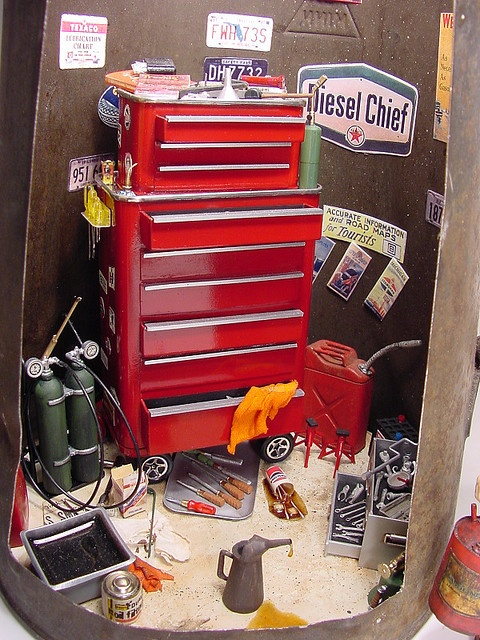 Mechanic's Tool Chest 1:12 Scale Miniature