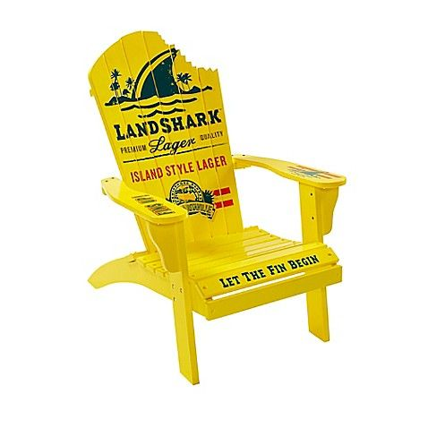Margaritaville 174 Landshark Adirondack Chair In Yellow