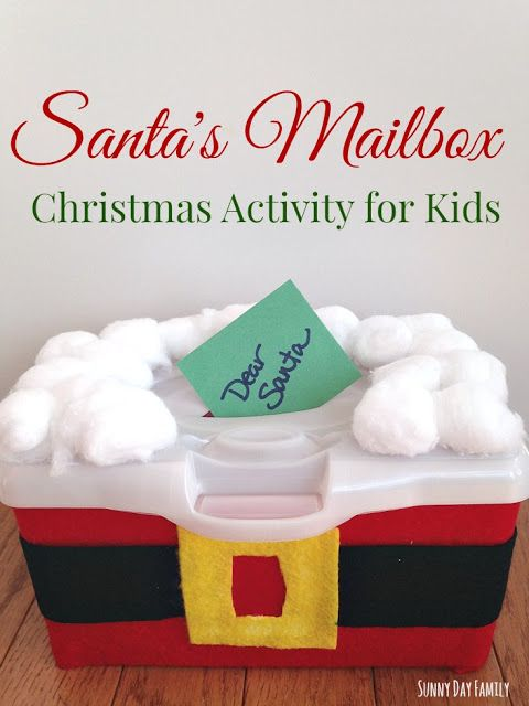 Recycle a wipes container into a mailbox for letters to Santa! This super fun Christmas activity for kids is perfect for toddlers & preschoolers. Fun Christmas craft for kids too!
