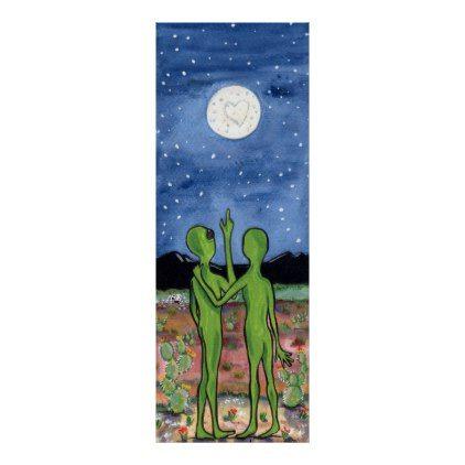 Romantic Alien Roswell Honeymoon UFO Humor Poster - anniversary gifts ideas diy celebration cyo unique