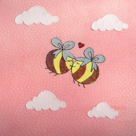 Kissing Bees Card... Cute | Busy Bees | Pinterest