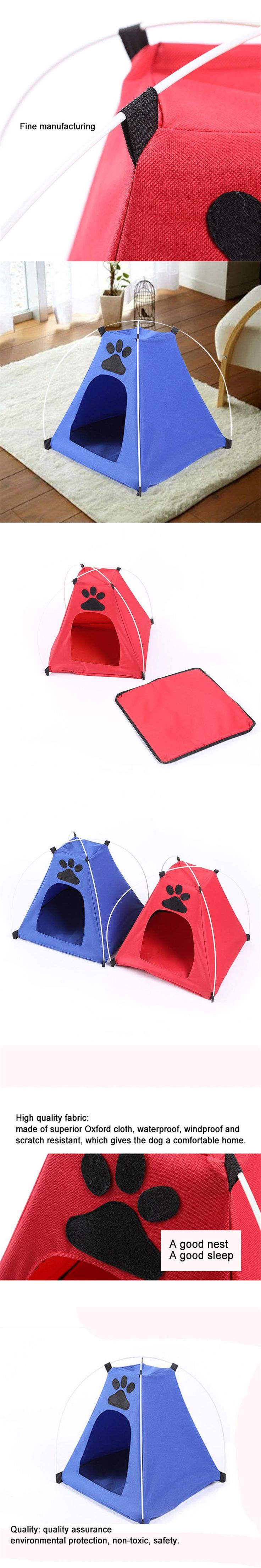 Dog Camp Tent Bed Play House Newest Pet Cage Easy to Install Quality Insurance Door Safe Dog House Cat Mat beds for small dogs