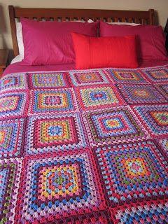 Why Didn't Anyone Tell Me?: Giant Granny Square Blanket Ta-Da!