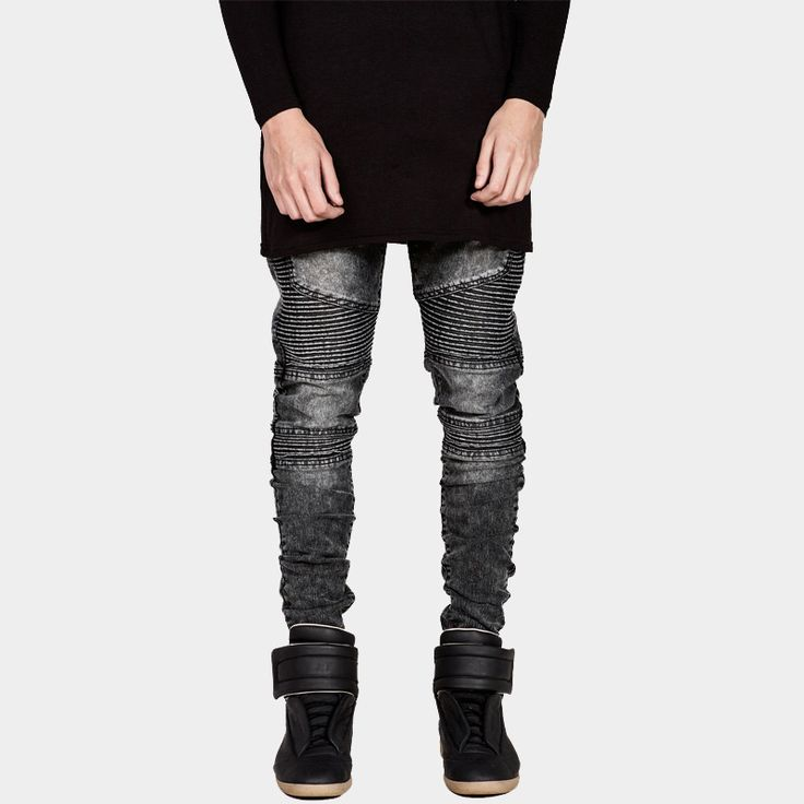 Mens Skinny Jeans Men 2016 Runway Distressed Slim Elastic Jeans Denim Biker Jeans Hiphop Pants Washed Black Jeans For Men Blue #>=#>=#>=#>=#> Click on the pin to check out discount price, color, size, shipping, etc. Save and like it!