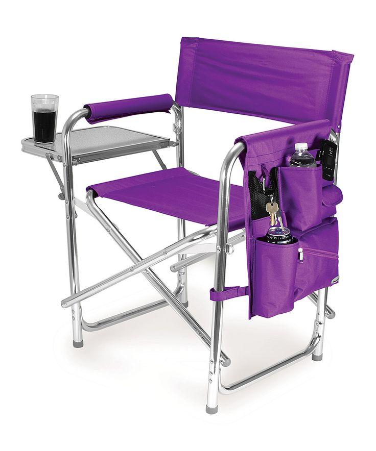 Look at this #zulilyfind! Purple Sports Chair by Picnic Time #zulilyfinds