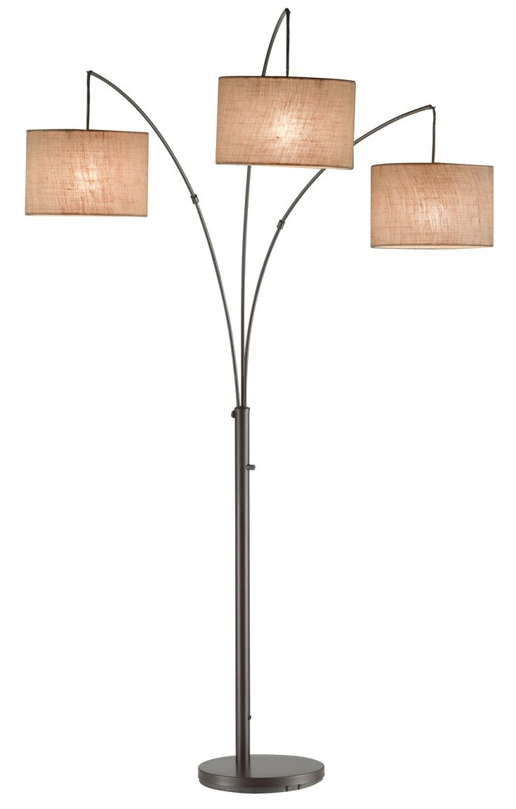 Adesso Trinity Arc Floor Lamp & Reviews | Wayfair behind couch