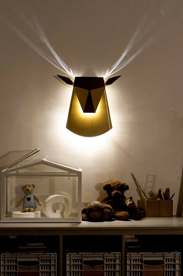 Popup Lighting - Deer Head Light Fixture by Chen Bikovski » Yanko Design