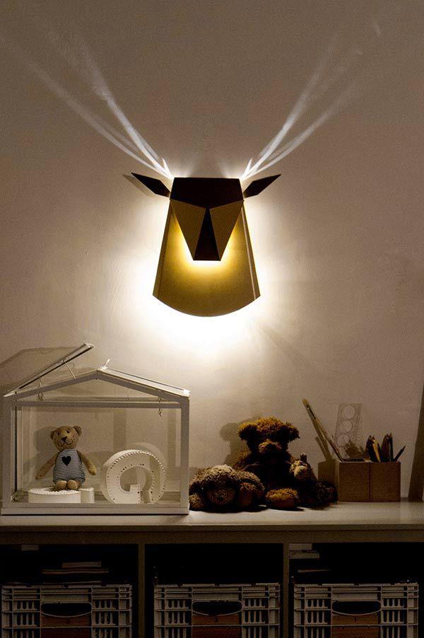 deer_03 Deer light ~ a play on having those heads on the walls.