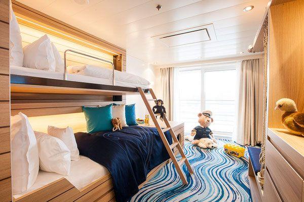 Familienkabine Hapag Lloyd Cruises #familienkreuzfahrten #hlcruises #barefoottraveldesign #luxuskreuzfahrten