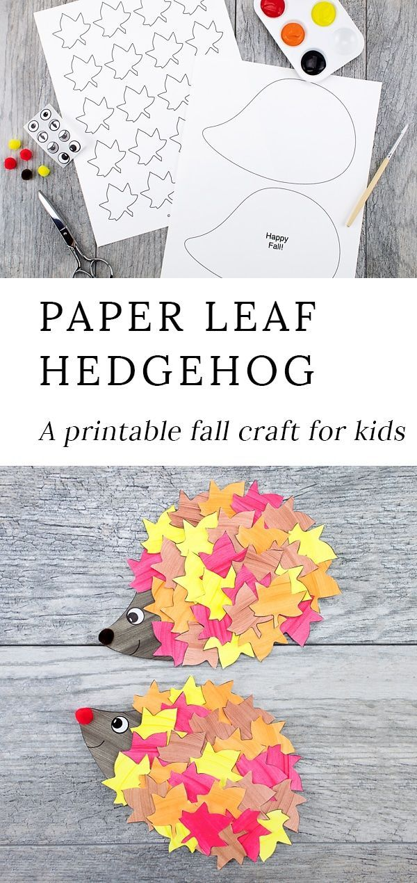 image relating to Printable Fall Crafts known as How towards Create the Cutest Slide Hedgehog Craft Drop Crafts