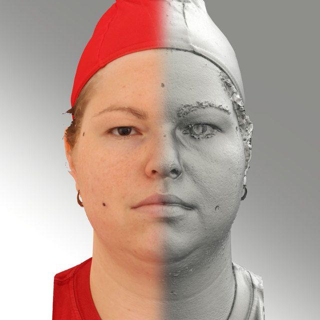 3D Head Scan Of Neutral Emotion   Misa