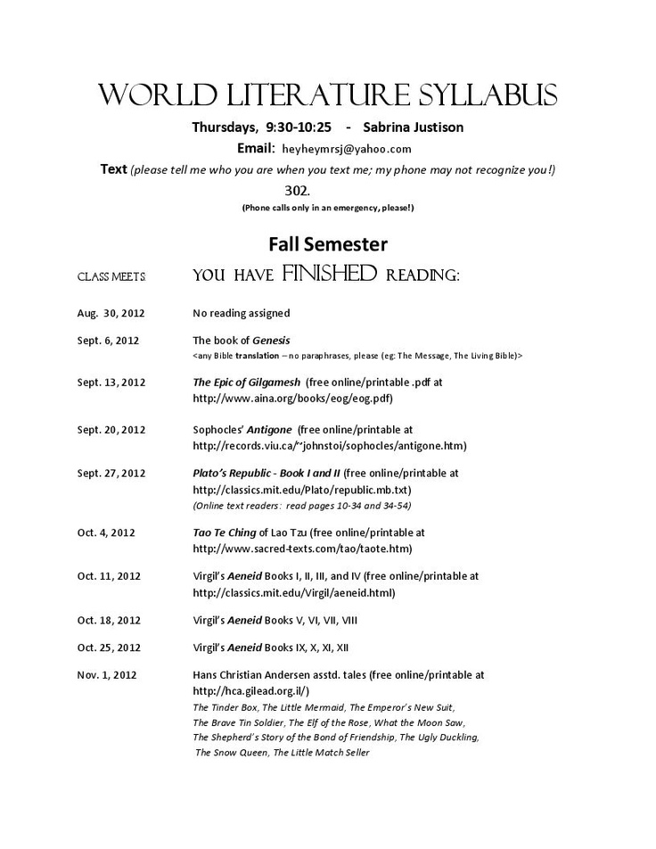 Syllabus Template High School. back to school middle school ...