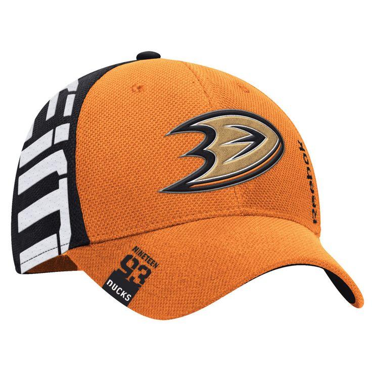 Men's Anaheim Ducks Reebok Orange/Black 2016 NHL Draft Structured Flex Hat