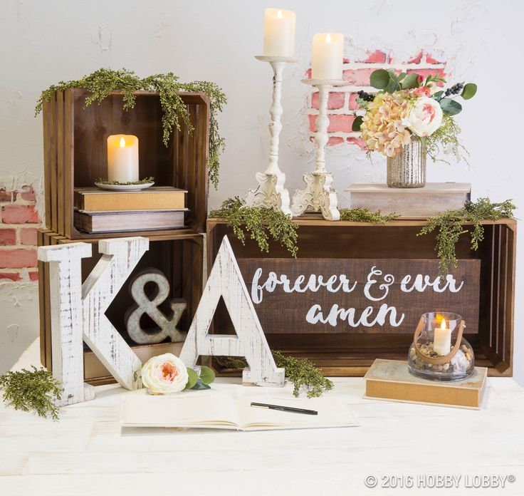 from hobby lobby give your guests a pretty place to leave you their love and fondest memories with this