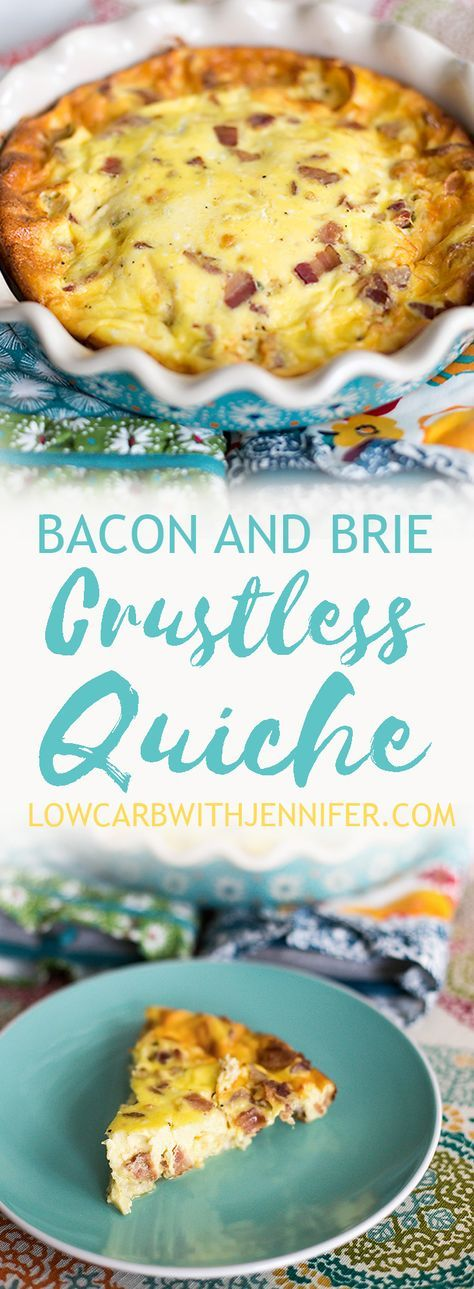 This crustless quiche with bacon and brie is a great low carb take on a brunch classic. You could call it crustless quiche or you could call it a frittata. I just call it yummy.