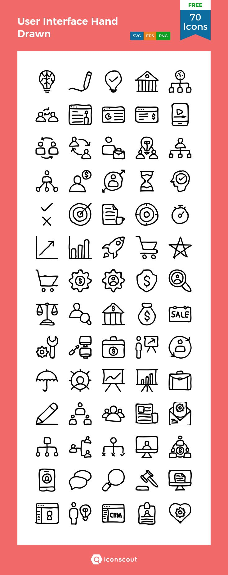 Download User Interface Hand Drawn Icon pack Available
