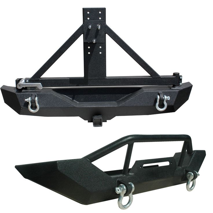 Tuff Stuff Winch Front Bumper & Rear Bumper, Tire Carrier Combo for 07-14 Jeep Wrangler