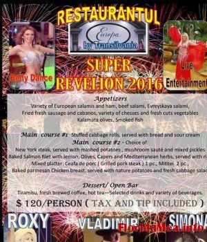 Revelion 2016 la Europa Restaurant din Hollywood, Florida | Florida Mea - Romanians in Florida