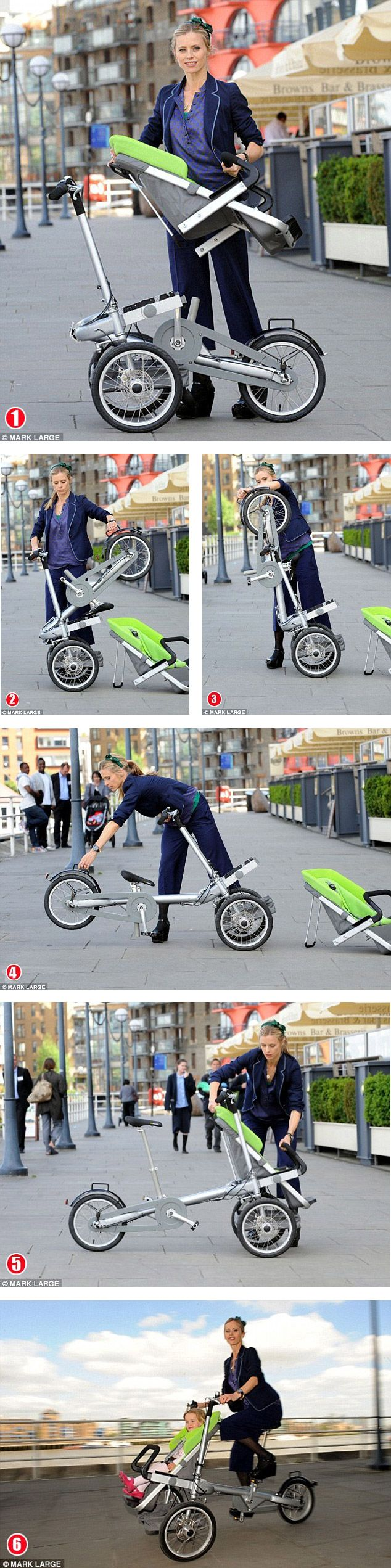 Could this be the ultimate get-fit gadget for yummy mummies? Introducing the buggy that turns into a bike in 20 seconds    http://www.tagabikes.com/- If I ever have a child I think I might need this...how awesome