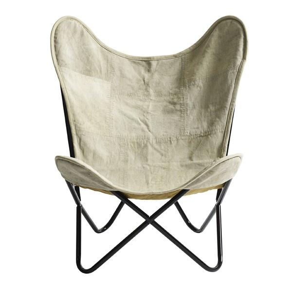 Vlinderstoel Canvas (Nordal) - Woonwinkel Siep