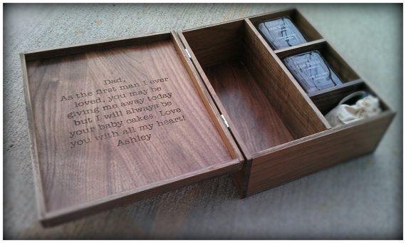 Custom Engraved Whiskey or Liquor Box Set with 2 Engraved Glasses and Whiskey Stones on Etsy, $250.00