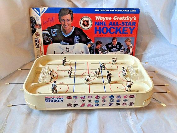 Extremely Rare The Official Wayne Gretzky Nhl All Star Rod Hockey Table Top Edition Game By Buddy L Sport Memorabilia Soccer Table Wayne Gretzky Stars Hockey