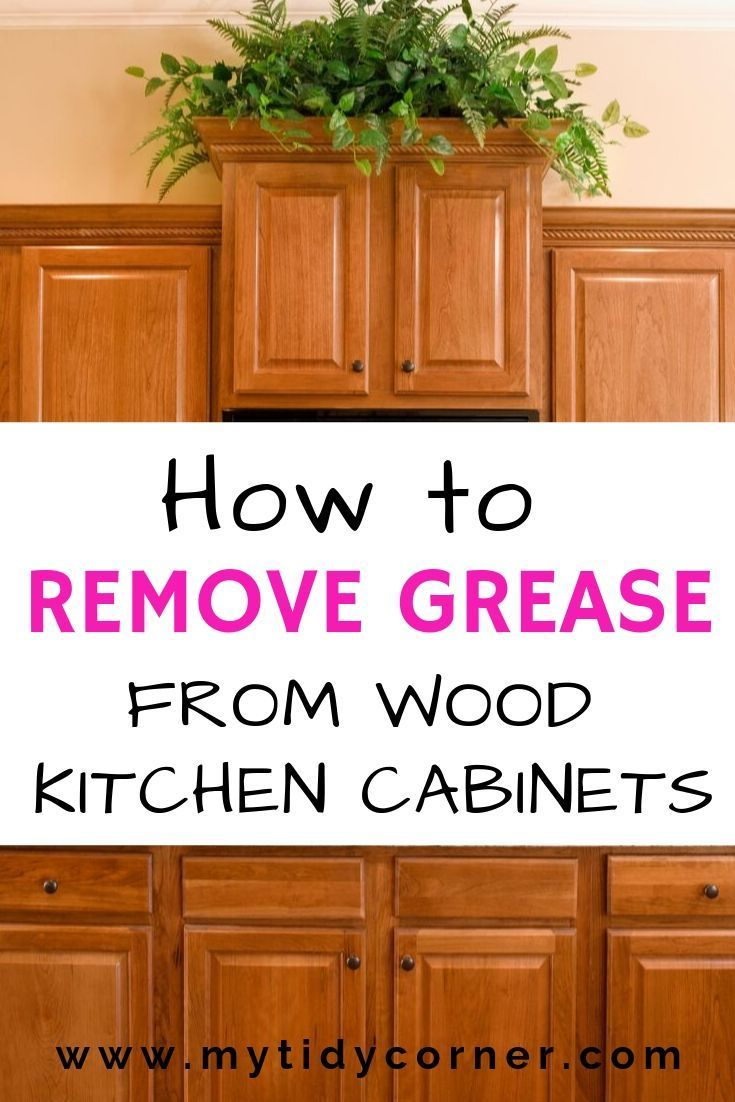 How remove grease from wood kitchen clean