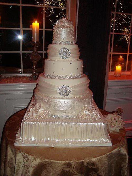 wedding cakes on pinterest bling wedding cakes bling cakes and