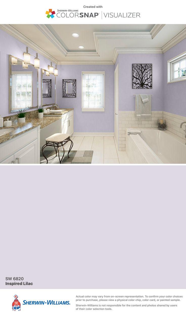Master Bath option 2: Inspired Lilac (SW 6820) Sherwin-Williams: