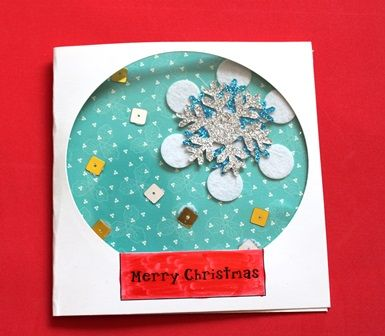 Make a paper snow dome using Shamrock Craft materials. This is a great craft for the kids this holiday season.