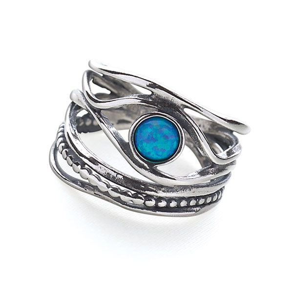 Island Stream Ring - Silver Rings - Silver by Mail