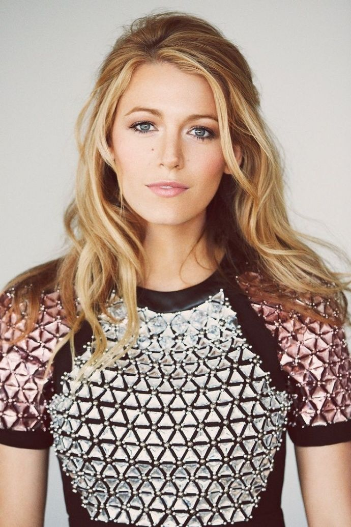 Blake Lively's half-up hair is perfect for a wedding!