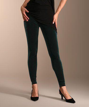 315975299f871 Love this Green Velvet Leggings - Women & Plus on #zulily! #zulilyfinds
